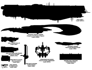 halo ship sizes