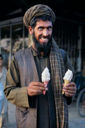 happy icecream eater