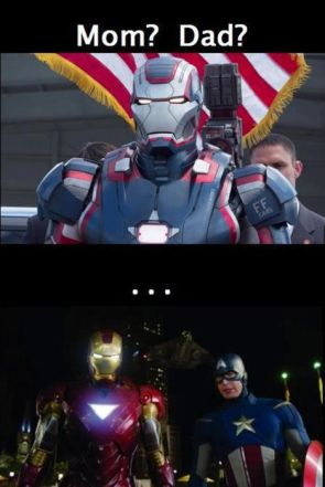 iron patriot's mom and dad