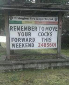 remember to move your cocks