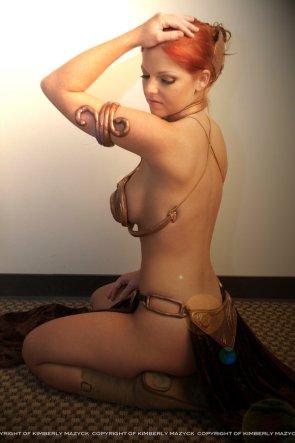 slave leia cosplay by kimberlystudio