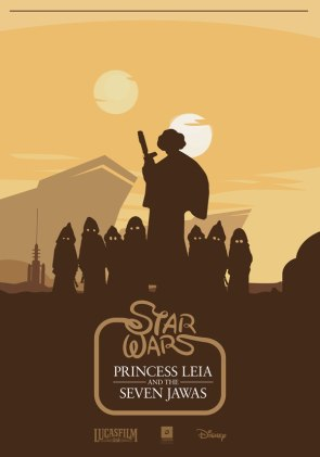 star wars – princess leia and the seven jawas