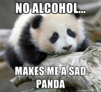 No alcohol for me