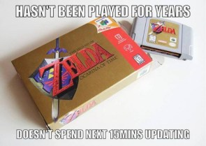 Hasn't played for years, doesn't spend next 15 minutes updating