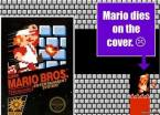 Mario dies on the cover
