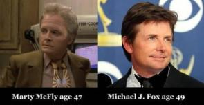 Marty McFly vs Michael j Fox