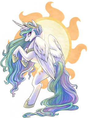 celestia shows her wings