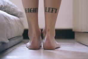 right and left tattoos