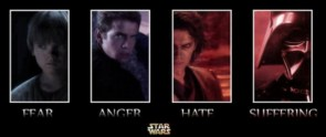 star wars – fear – anger – hate – suffering