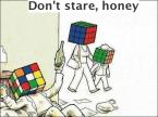 Don't stare, honey