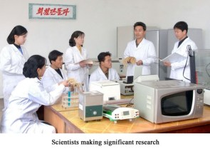 Scientists making significant research