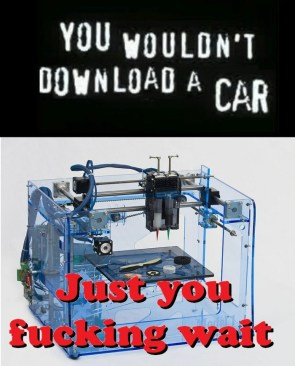 You wouldn't download a car – fuck you, just wait