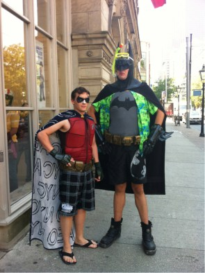 awesome batman and robin cosplay