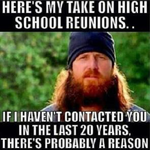 my take on high school reunions