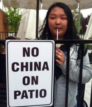 no china on patio