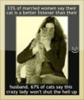 women say their cat is a better listener than their husband