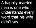 A happily married man