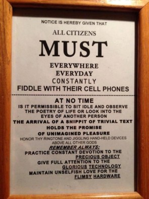 All Citizens MUST fiddle with their cell phones