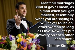 All marriages are kind of gay