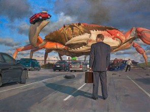 Calm during crab attack