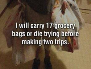 I will carry 17 grocery bags