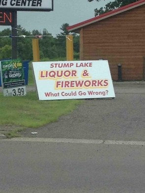 Liquor and fireworks – what could go wrong