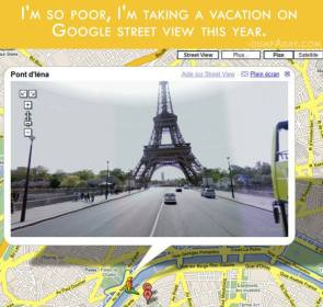 Vacation on google street view