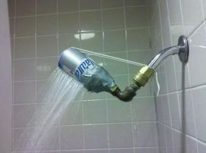 beer can shower head