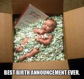 best birth annoucement