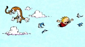 calvin and hobbes – flying