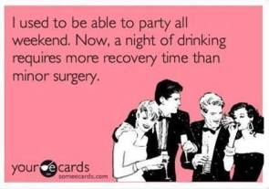 drinking requires more recovery time than minor surgery