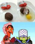evil cholate egg
