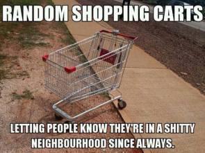 random shopping carts