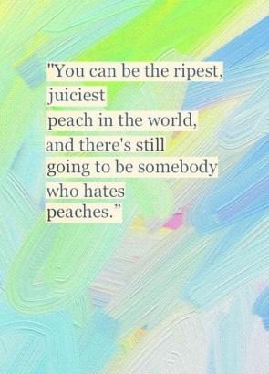 someone hate peaches
