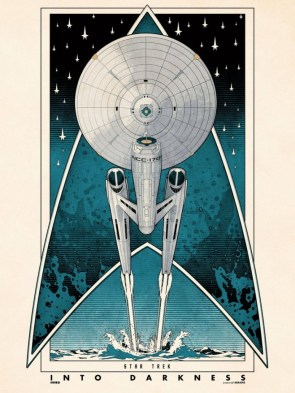 star trek into darkness retro poster