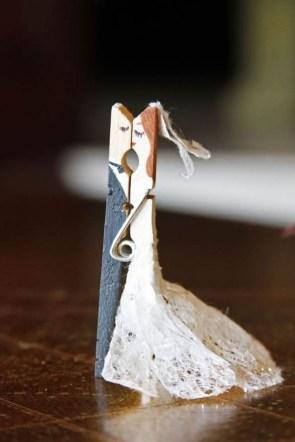 Clothespin Wedding couple