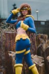 Female Cyclops cosplayer