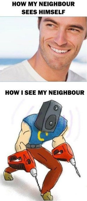 How my neighbour sees himself