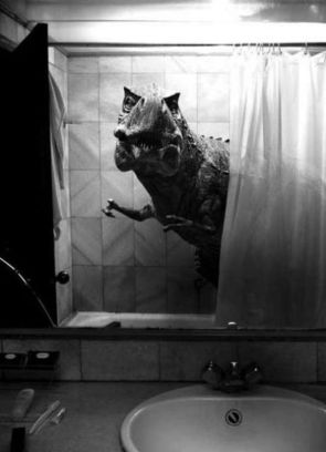 T-Rex shower