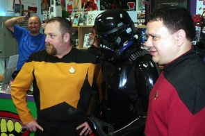 Trekkies with stealth stormtrooper