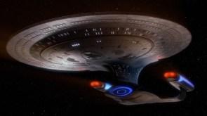 enterprise 1701-D in space