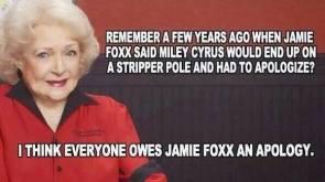 everyone owes jamie foxx an apology