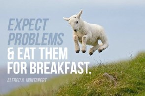 expect problems – and eat them for breakfast