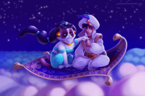 grumpy cat with aladdin