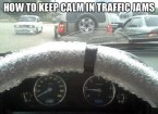 how to keep calm in traffic jams