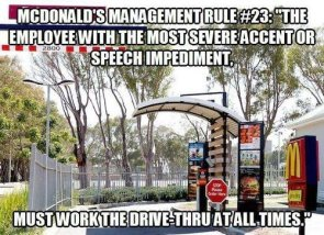 mcdonalds management rule