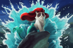 sexy grump cat as a mermaid
