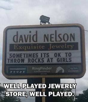 sometimes it's ok to throw rocks at girls