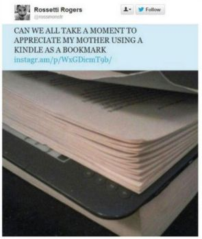 using a kindle as a bookmark