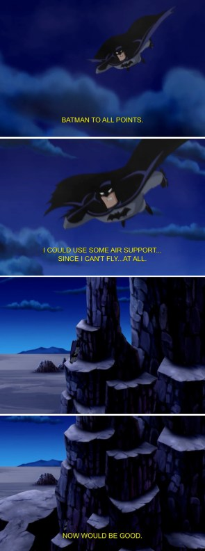 batman cannot fly